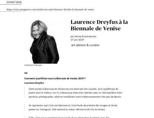 L'ART A GENEVE : LAURENCE DREYFUS A LA BIENNALE DE VENISE